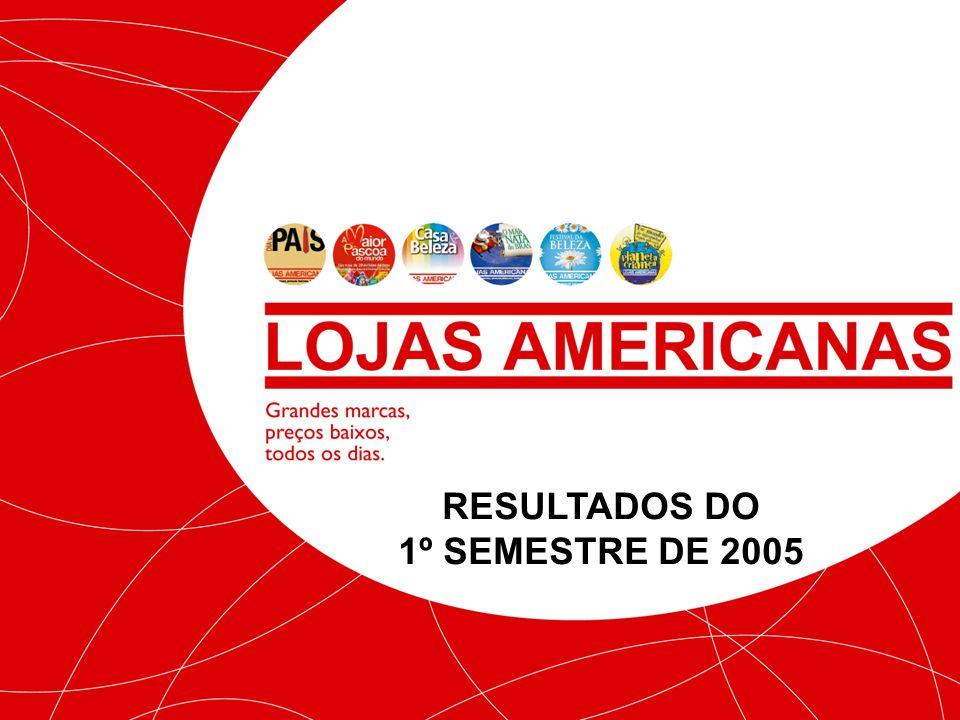 RESULTADOS DO 1º SEMESTRE DE 2005