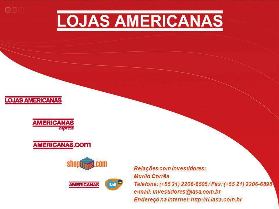 Relações com Investidores: Murilo Corrêa Telefone: (+55 21) 2206-6505 / Fax: (+55 21) 2206-6898 e-mail: investidores@lasa.com.br Endereço na Internet: http://ri.lasa.com.br