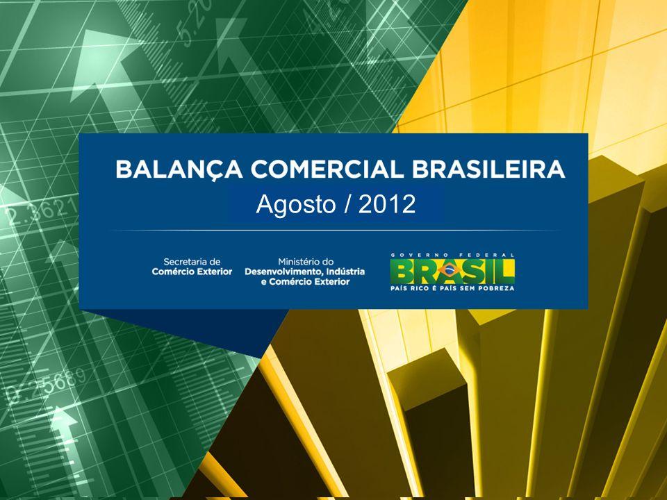 BALANÇA COMERCIAL BRASILEIRA Agosto/2012