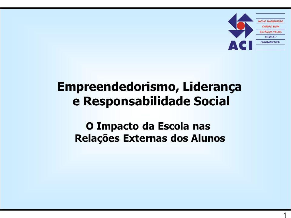1 Empreendedorismo, Liderança e Responsabilidade Social O Impacto da Escola nas Relações Externas dos Alunos