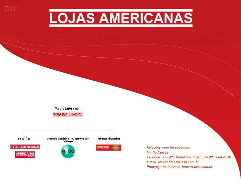 Relações com Investidores: Murilo Corrêa Telefone: +55 (21) 2206-6505 / Fax: +55 (21) 2206-6898 e-mail: investidores@lasa.com.br Endereço na Internet: http://ri.lasa.com.br