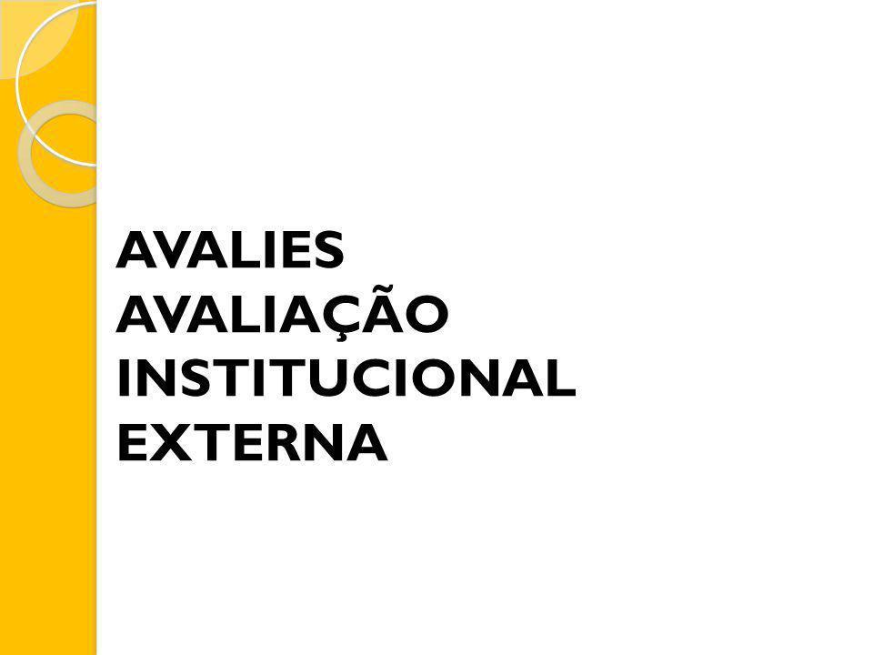 AVALIES AVALIAÇÃO INSTITUCIONAL EXTERNA