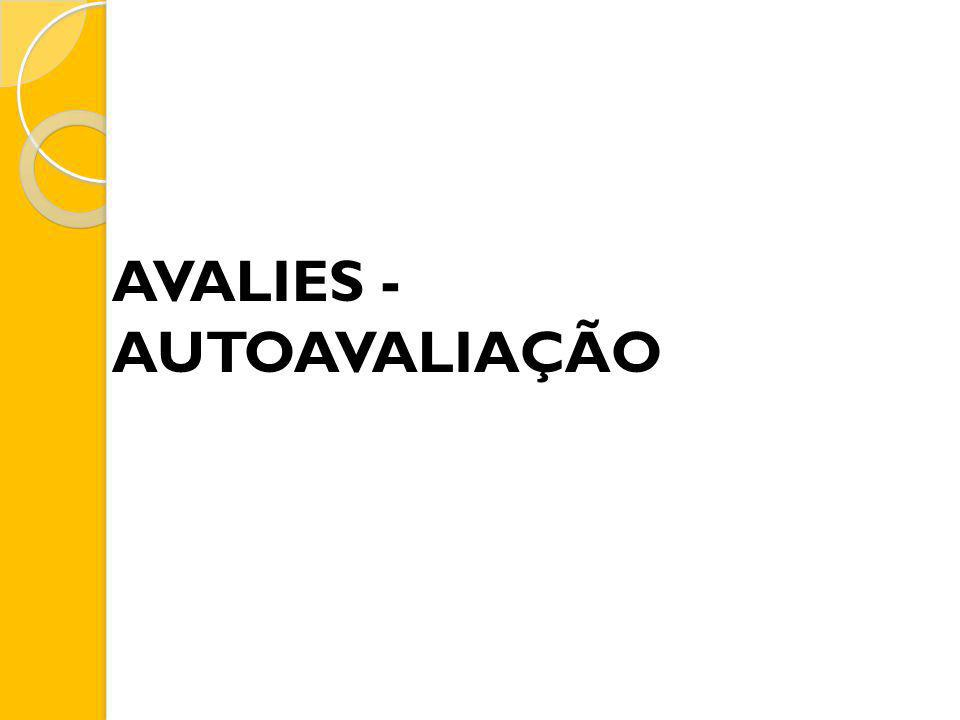 AVALIES - AUTOAVALIAÇÃO