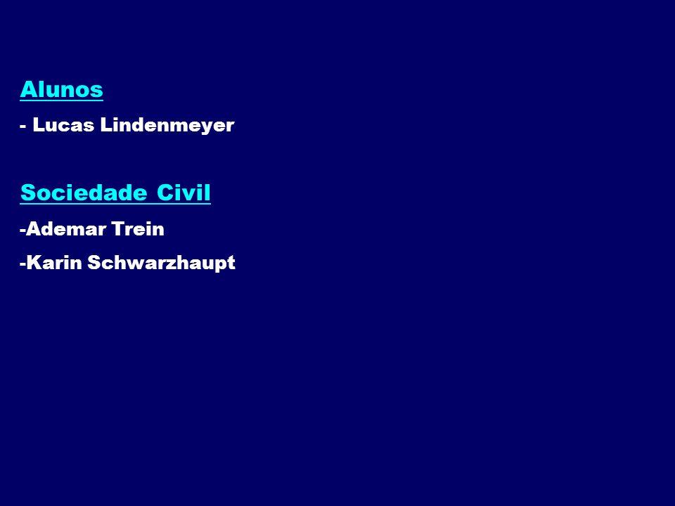 Alunos - Lucas Lindenmeyer Sociedade Civil -Ademar Trein -Karin Schwarzhaupt