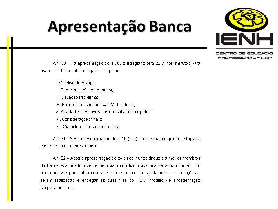 Apresentação Banca Apresentação Banca