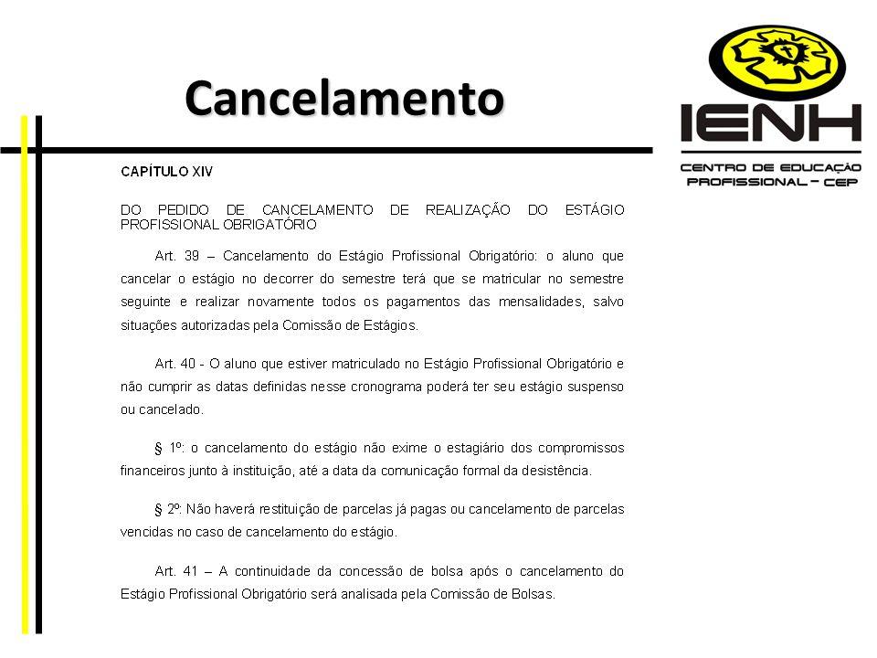 Cancelamento Cancelamento