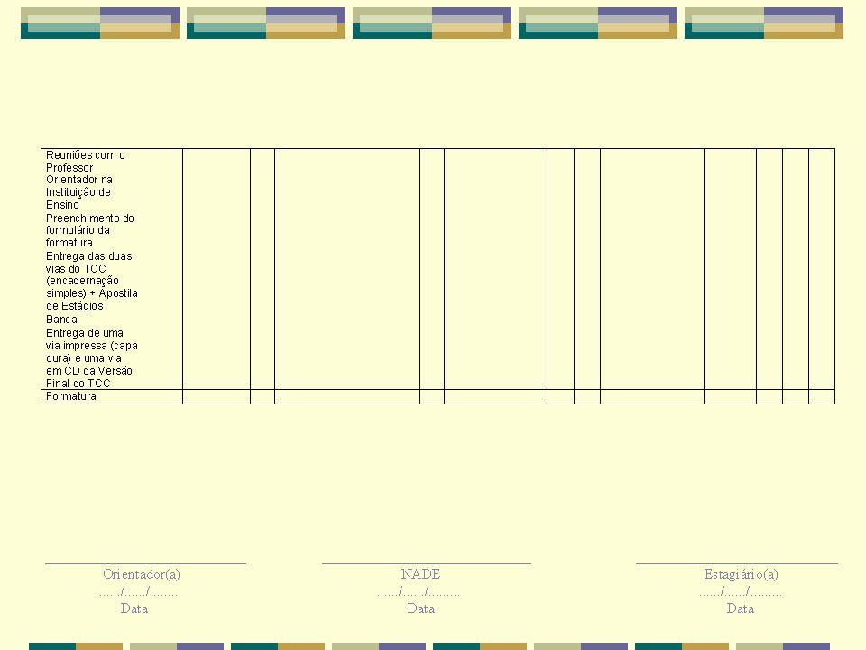 PTE (Anexo C) Plano de Trabalho de Estágio – PTE – Realizar a elaboração do mesmo na Apostila de Estágios até 20 dias após o aceite do Professor Orientador.