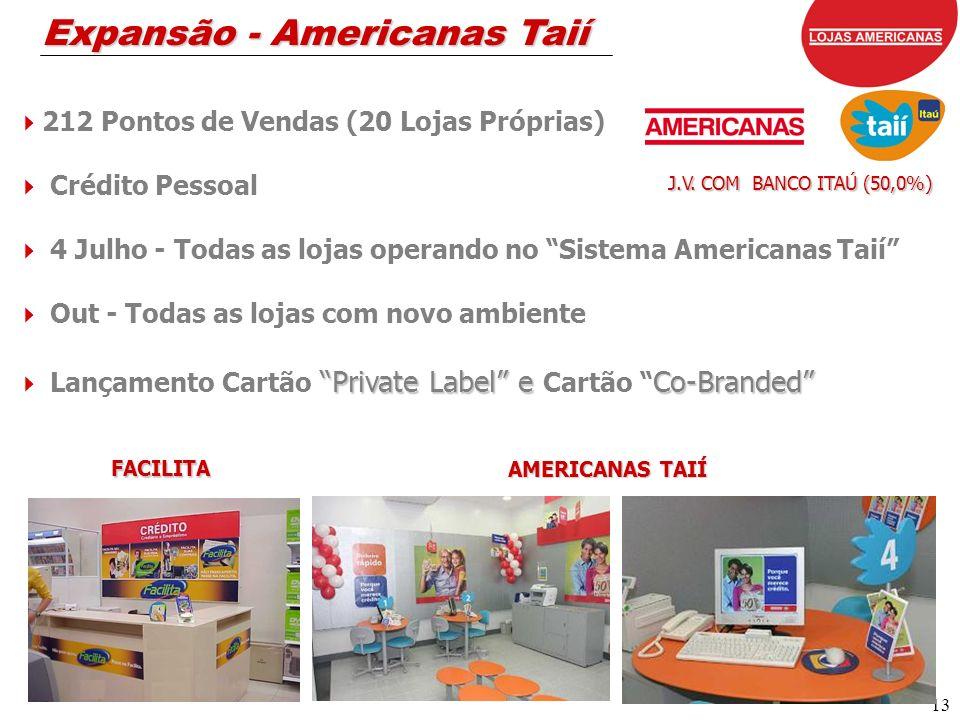 13 Expansão - Americanas Taií FACILITA AMERICANAS TAIÍ J.V.
