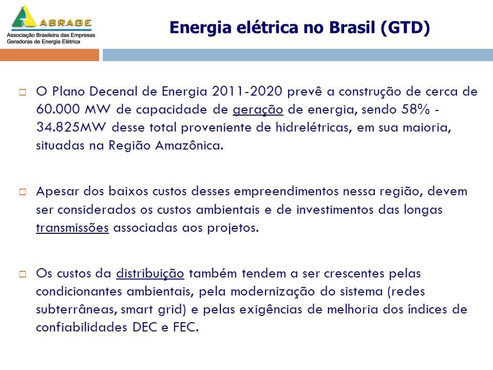 O Plano Decenal de Energia 2011-2020 prevê a construção de cerca de 60.000 MW de capacidade de geração de energia, sendo 58% - 34.825MW desse total pr