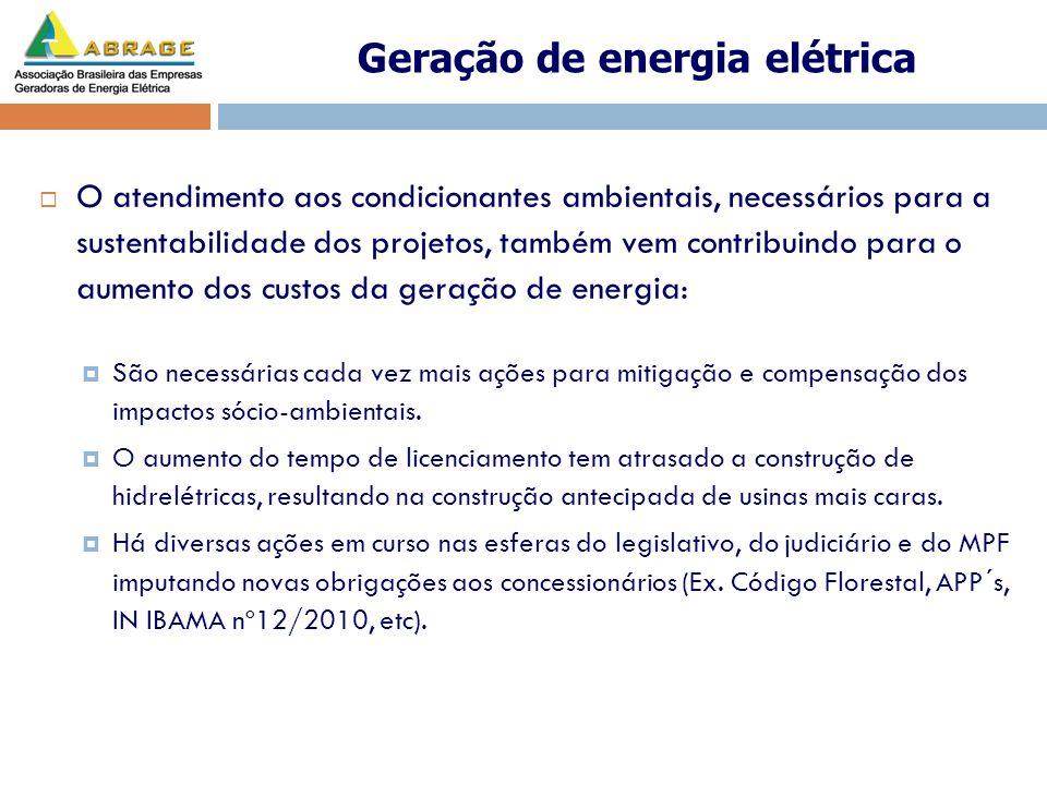 Outro fator que também contribui para o crescente aumento do custo da energia é a dificuldade para a construção de usinas com reservatórios de regularização.