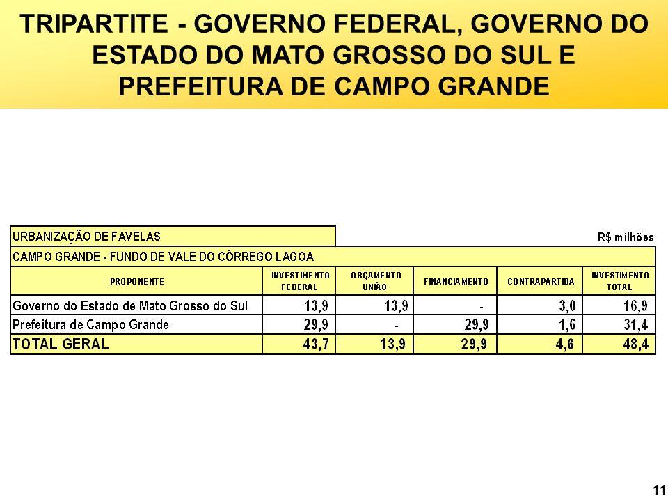 11 TRIPARTITE - GOVERNO FEDERAL, GOVERNO DO ESTADO DO MATO GROSSO DO SUL E PREFEITURA DE CAMPO GRANDE