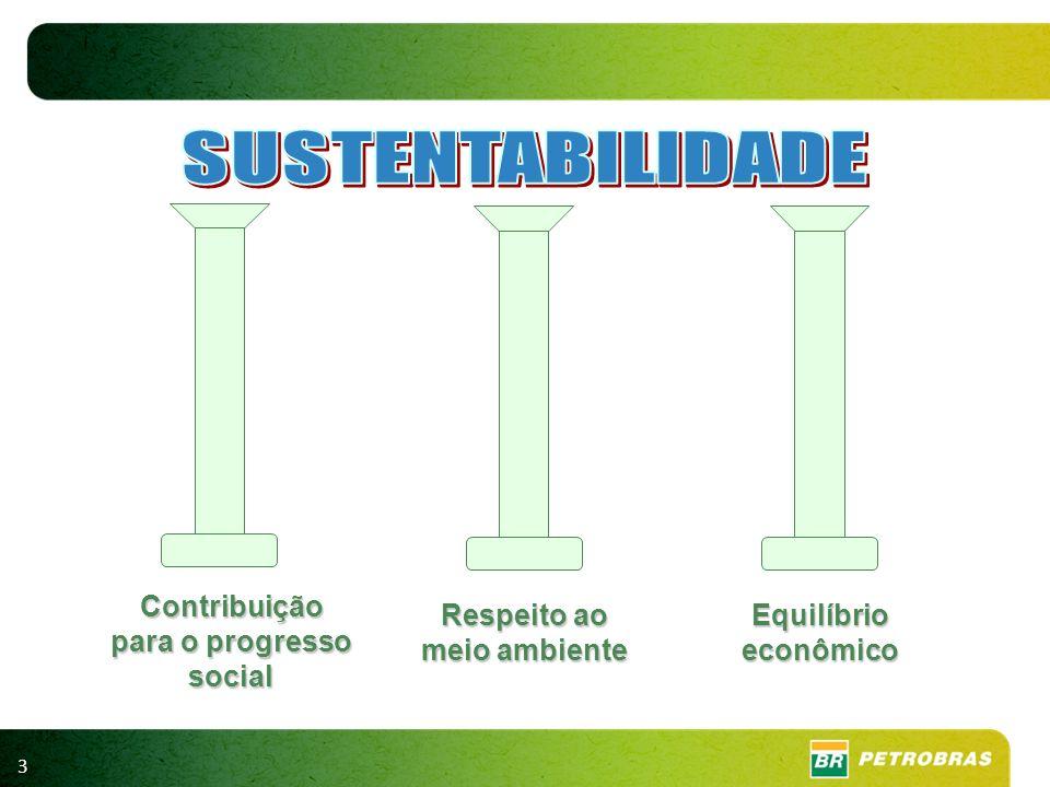 3 Respeito ao meio ambiente Equilíbrio econômico Contribuição para o progresso social