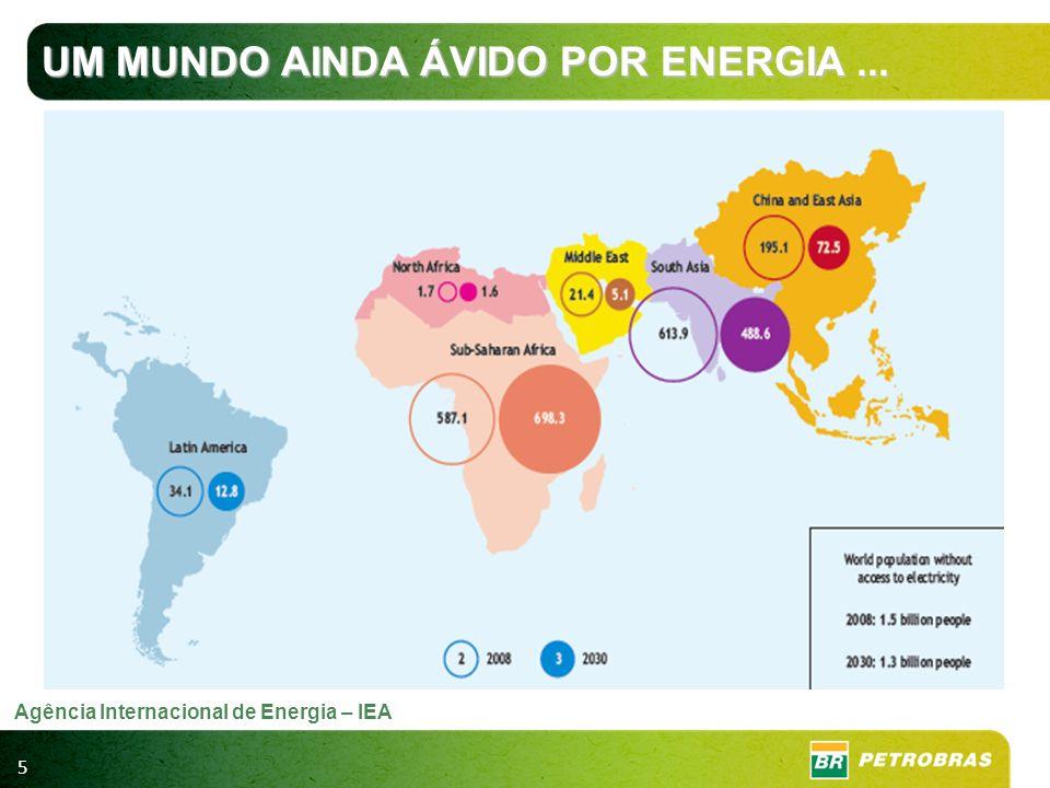 5 Agência Internacional de Energia – IEA UM MUNDO AINDA ÁVIDO POR ENERGIA...