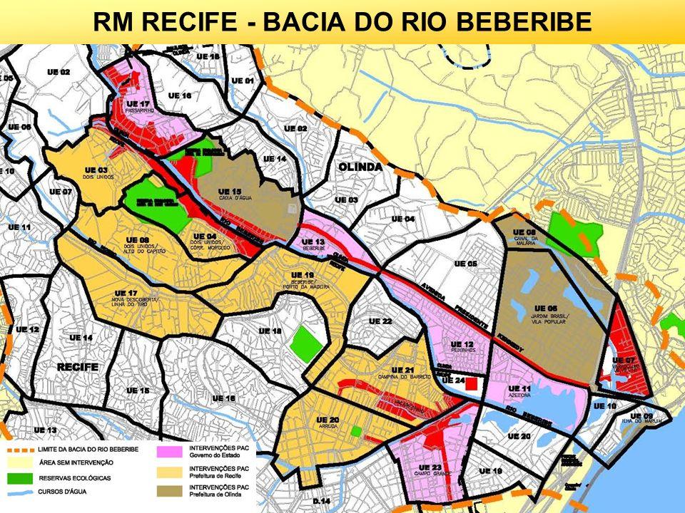 20 RECIFE/OLINDA - BACIA DO RIO BEBERIBE OLINDA: CANAL DA MALÁRIA RECIFE: CANAL DO JACAREZINHO