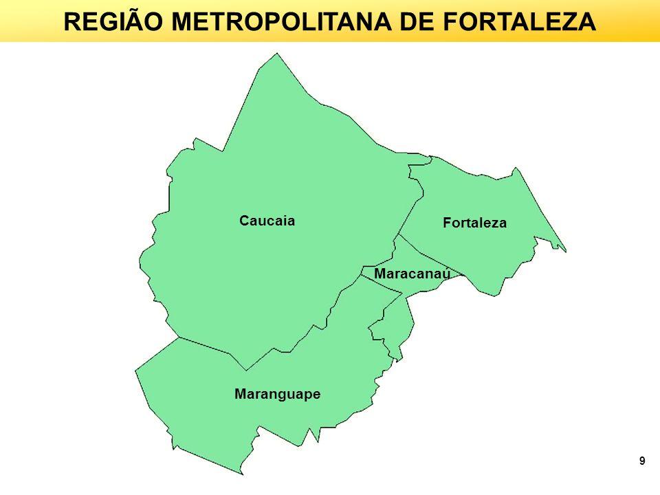 9 Caucaia Fortaleza Maracanaú Maranguape REGIÃO METROPOLITANA DE FORTALEZA