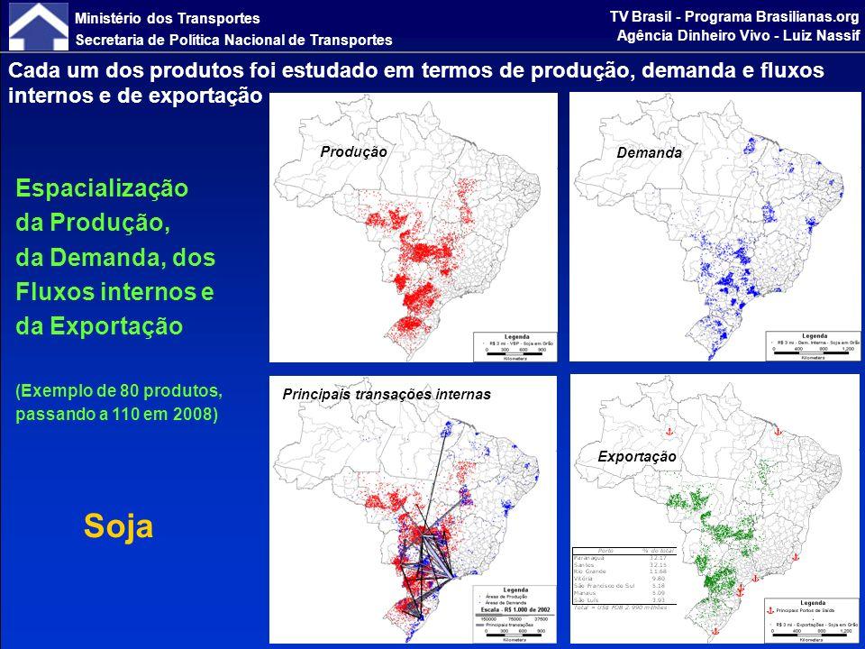 Ministério dos Transportes Secretaria de Política Nacional de Transportes TV Brasil - Programa Brasilianas.org Agência Dinheiro Vivo - Luiz Nassif Valor Bruto da Produção (VBP) em 2002 e 2023 - Preços de 2005 em R$ Milhões - Brasil