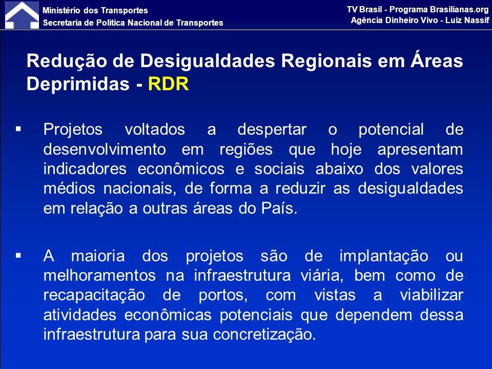 Ministério dos Transportes Secretaria de Política Nacional de Transportes TV Brasil - Programa Brasilianas.org Agência Dinheiro Vivo - Luiz Nassif Projetos que se destinam a reforçar e consolidar o processo de integração da infraestrutura na América do Sul, permitindo a realização de trocas comerciais, intercâmbio cultural e social entre o Brasil e seus vizinhos.