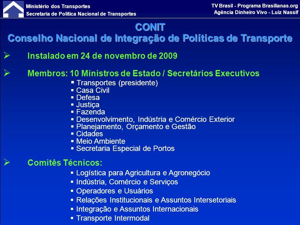 Ministério dos Transportes Secretaria de Política Nacional de Transportes TV Brasil - Programa Brasilianas.org Agência Dinheiro Vivo - Luiz Nassif PROPOSTA DE CONTINUIDADE DO PAC