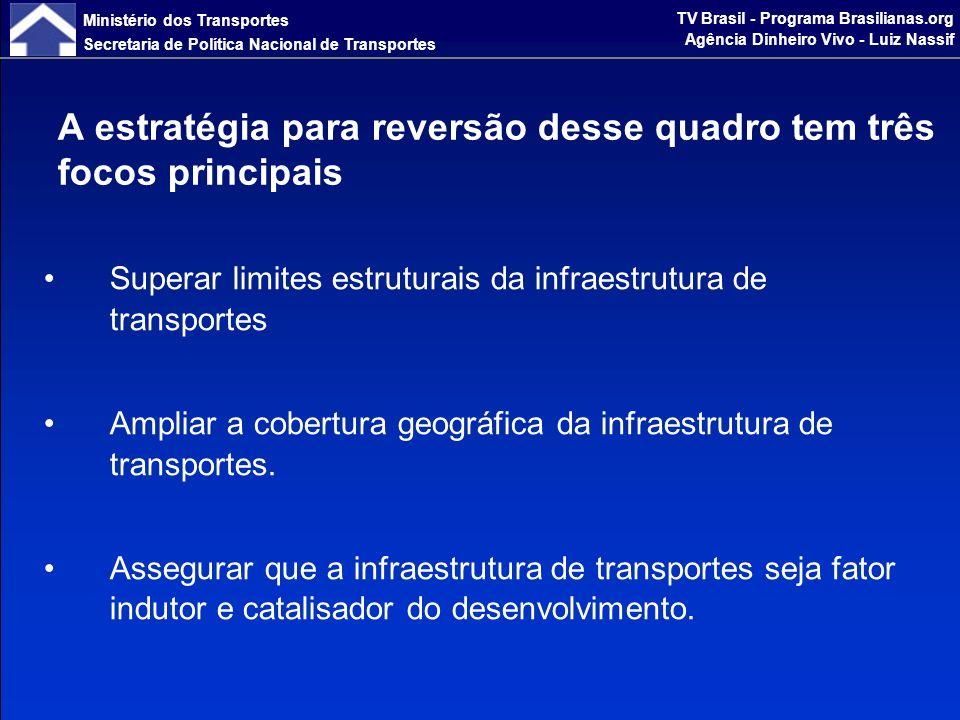 Ministério dos Transportes Secretaria de Política Nacional de Transportes TV Brasil - Programa Brasilianas.org Agência Dinheiro Vivo - Luiz Nassif e obedece a quatro fundamentos lógicos.