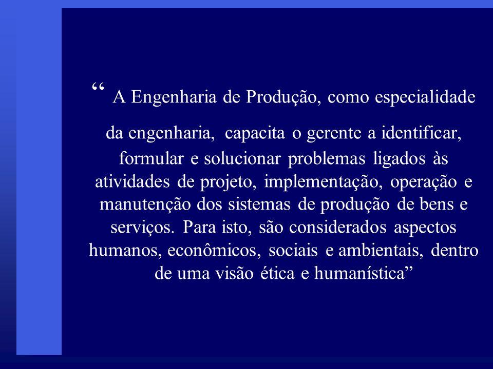 Engenharia de Produção em Pernambuco Três cursos de Graduação, UFPE e FBV(reconhecidos) e Universo ( em reconhecimento) Especializações: gestão da produção, gestão da informação, gestão da manutenção, gestão de projetos, gestão ambiental.