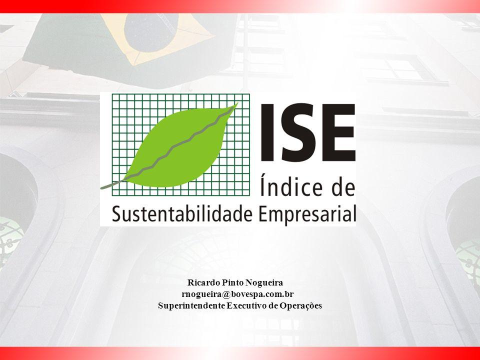 Ricardo Pinto Nogueira rnogueira@bovespa.com.br Superintendente Executivo de Operações