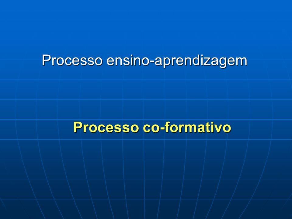 Processo ensino-aprendizagem Processo co-formativo