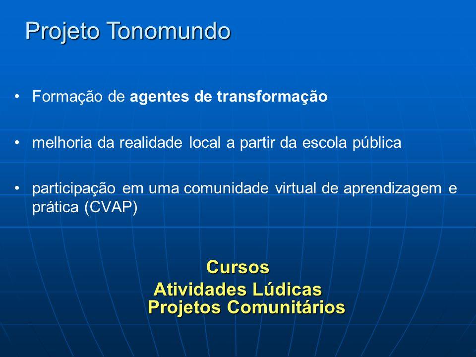 Formação de agentes de transformação melhoria da realidade local a partir da escola pública participação em uma comunidade virtual de aprendizagem e p