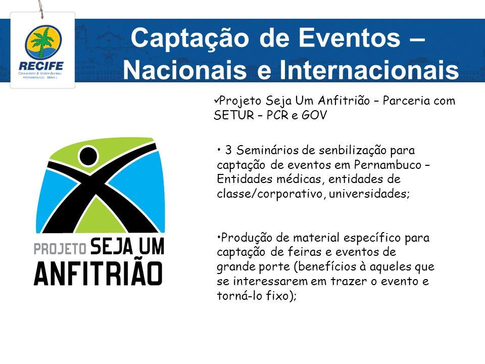 Projetos Específicos Distribuição de placas que identificam os hotéis que têm interesse no público GLSBT associados ao Recife CVB; Capacitação para os funcionários dos hotéis que aderirem à placa Friendly.