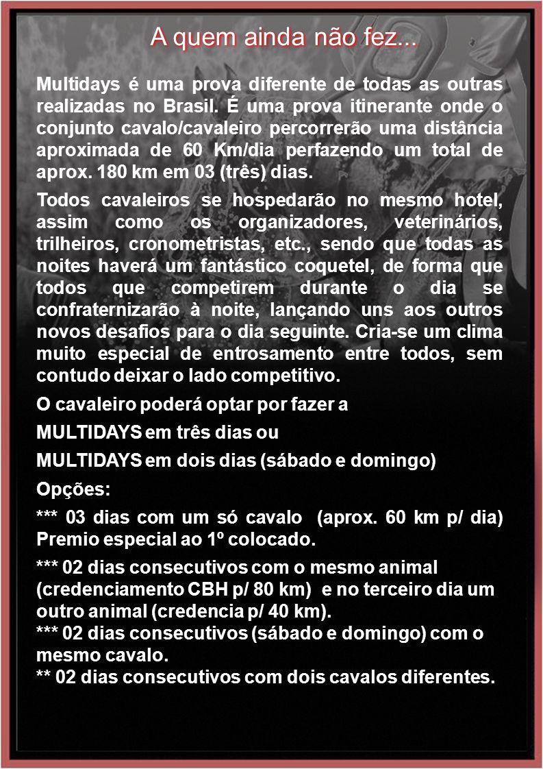 A quem ainda não fez... Multidays é uma prova diferente de todas as outras realizadas no Brasil.