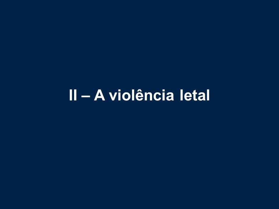II – A violência letal
