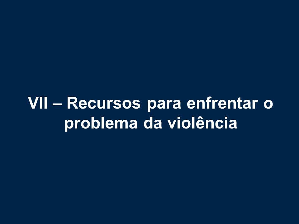 VII – Recursos para enfrentar o problema da violência