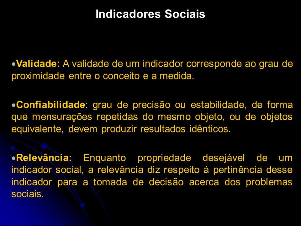 Horn (1993) descreve a elaboração de indicadores sociais através da seguinte seqüência estrutural: observações, organizadas sistematicamente, produzem