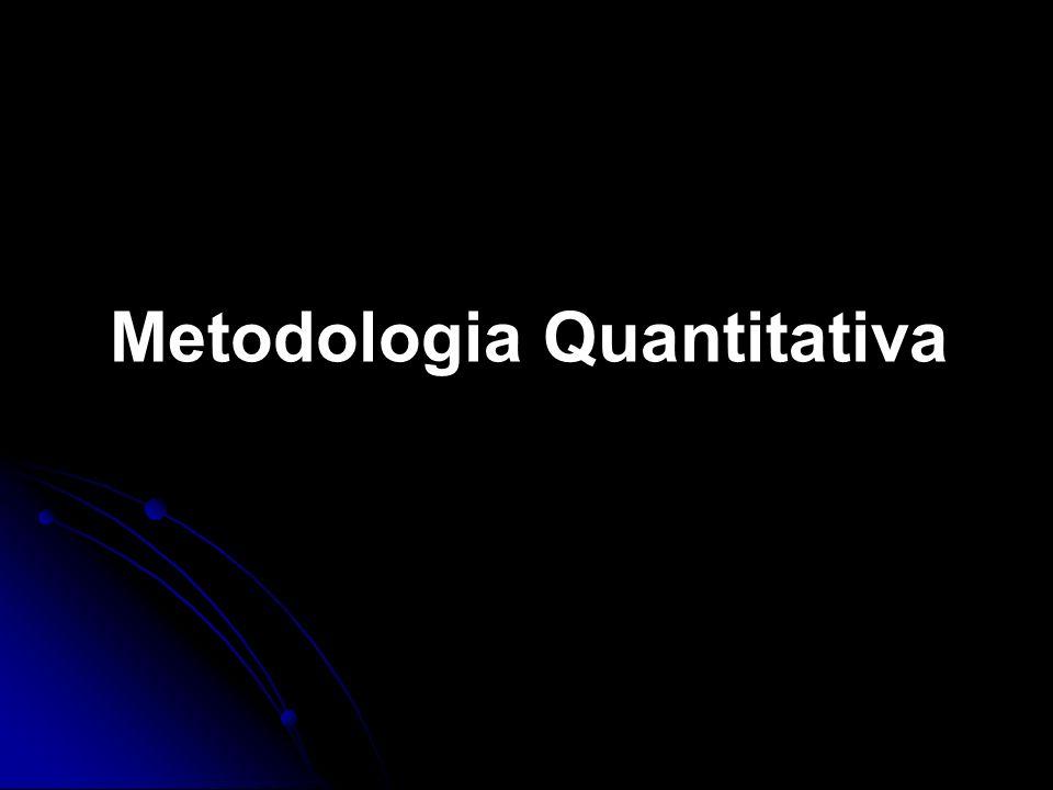 Metodologia Quantitativa