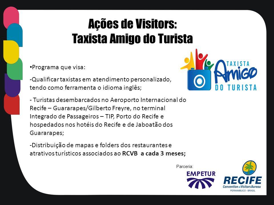 Programa que visa: -Qualificar taxistas em atendimento personalizado, tendo como ferramenta o idioma inglês; - Turistas desembarcados no Aeroporto Int