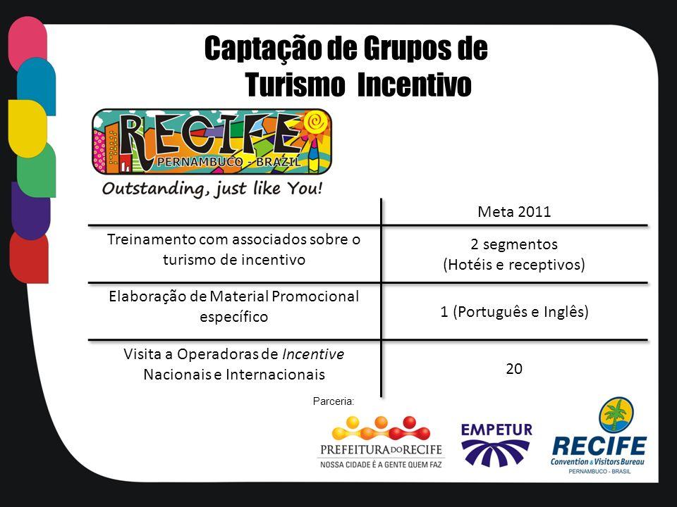 Captação de Grupos de Turismo Incentivo Parceria: