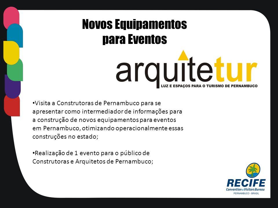 Visita a Construtoras de Pernambuco para se apresentar como intermediador de informações para a construção de novos equipamentos para eventos em Perna