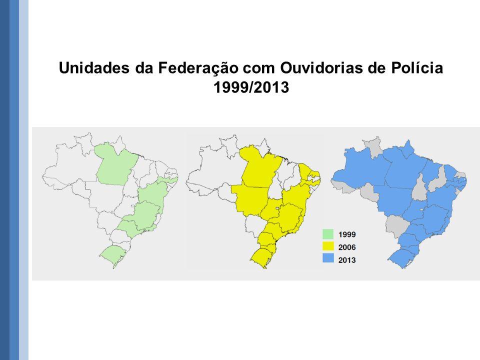 Unidades da Federação com Ouvidorias de Polícia 1999/2013
