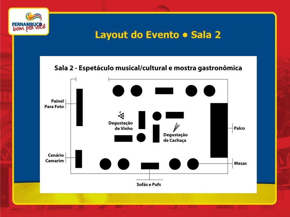 Layout do Evento Sala 2