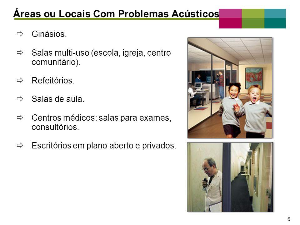 – 7 – 7 Diferentes Requisitos de Desempenho por Espaço Áreas ou Locais Com Problemas Acústicos Espaços fechados.
