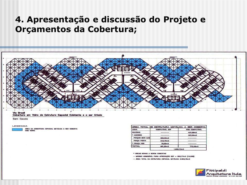 4. Apresentação e discussão do Projeto e Orçamentos da Cobertura;