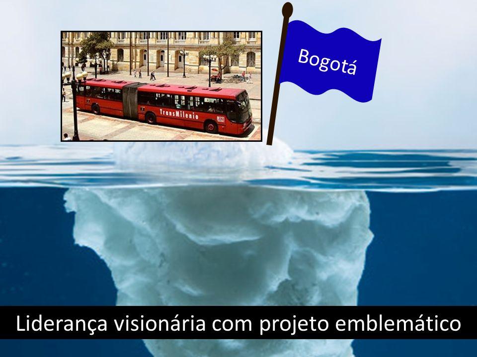 Liderança visionária com projeto emblemático Bogotá
