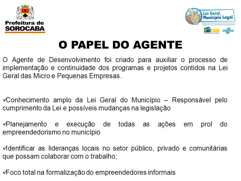 O Agente de Desenvolvimento foi criado para auxiliar o processo de implementação e continuidade dos programas e projetos contidos na Lei Geral das Mic