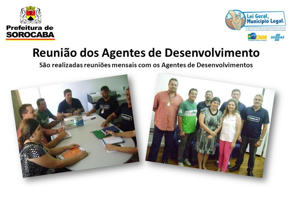 Reunião dos Agentes de Desenvolvimento São realizadas reuniões mensais com os Agentes de Desenvolvimentos