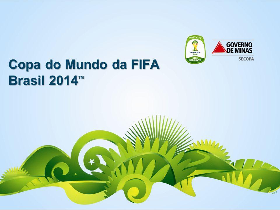Copa em Números - Brasil 12 cidades-sede; 32 seleções; 64 jogos; Mais de 700 jogadores; Mais de 3 milhões de espectadores nos estádios; Mais de 18 milhões de espectadores nas Fan Fests; Mais de 18 mil profissionais de mídia; Mais de 600 mil turistas internacionais no Brasil; Mais de 18 mil voluntários selecionados; Mais de 4 bilhões de telespectadores; Mais de 30 bilhões de telespectadores rotativos.