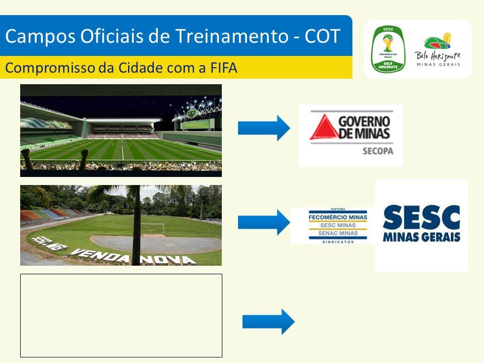 Campos Oficiais de Treinamento - COT Compromisso da Cidade com a FIFA