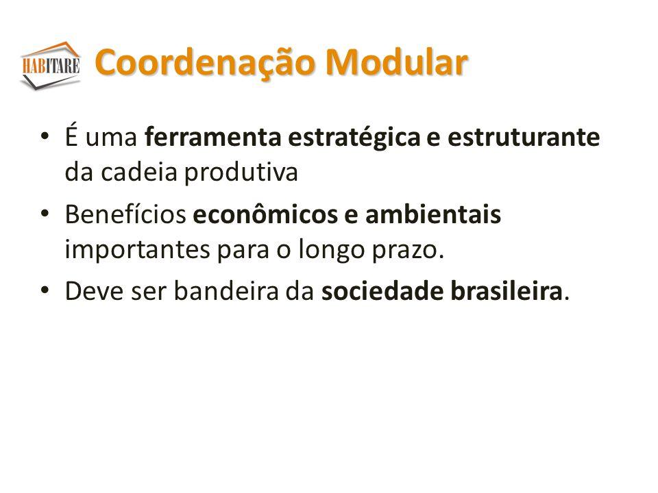Coordenação Modular É uma ferramenta estratégica e estruturante da cadeia produtiva Benefícios econômicos e ambientais importantes para o longo prazo.