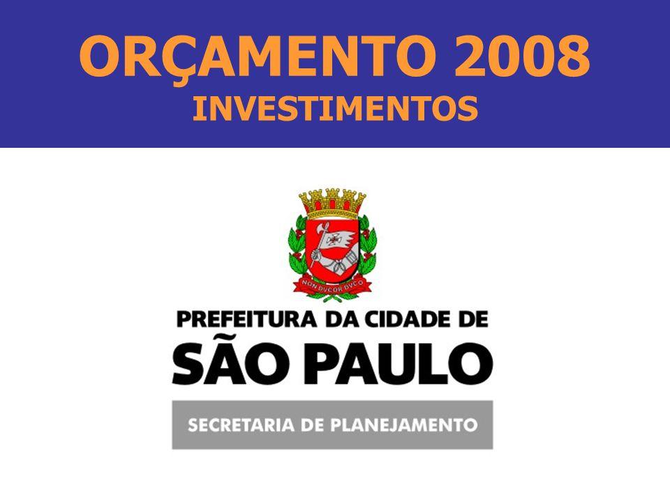 ORÇAMENTO 2008 INVESTIMENTOS