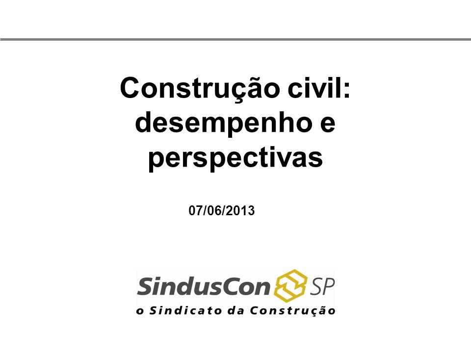 Construção civil: desempenho e perspectivas 07/06/2013