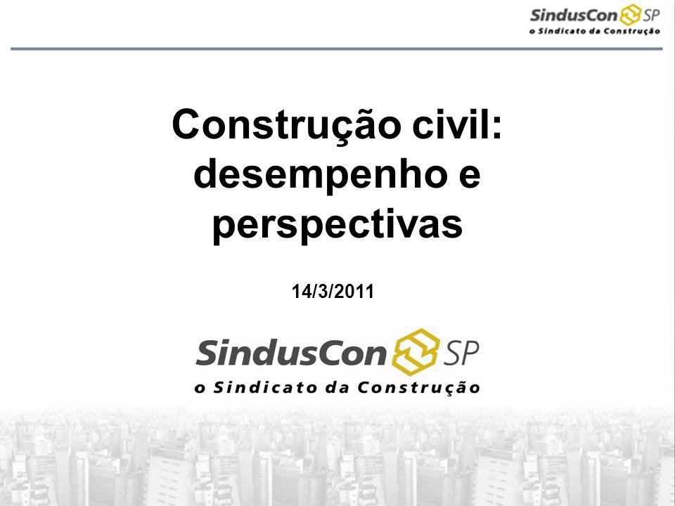 Construção civil: desempenho e perspectivas 14/3/2011