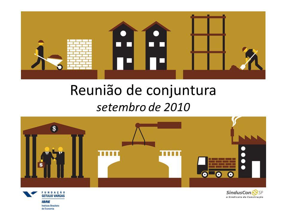 Reunião de conjuntura A cadeia da construção A evolução recente da construção Desafios e perspectivas